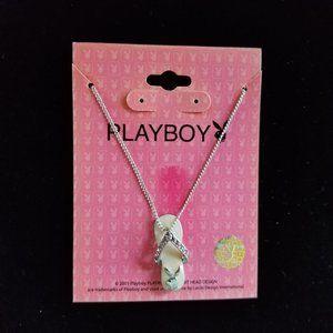 Playboy Bunny Flip Flop Pink Necklace 16''  2005